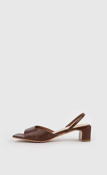 韓國空運 - Warren animal-pattern slingback middle heel sandals 涼鞋