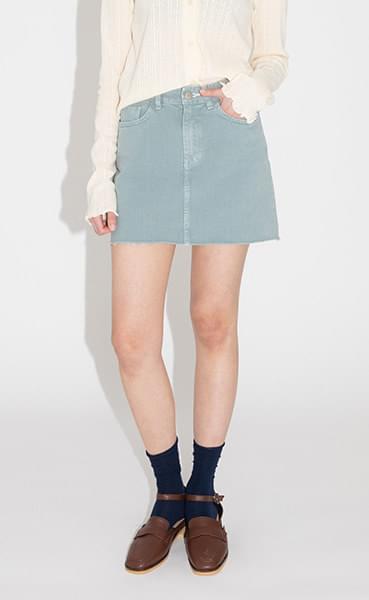 Coloring cotton mini skirt