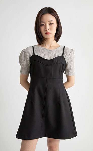 Marie layered mini dress