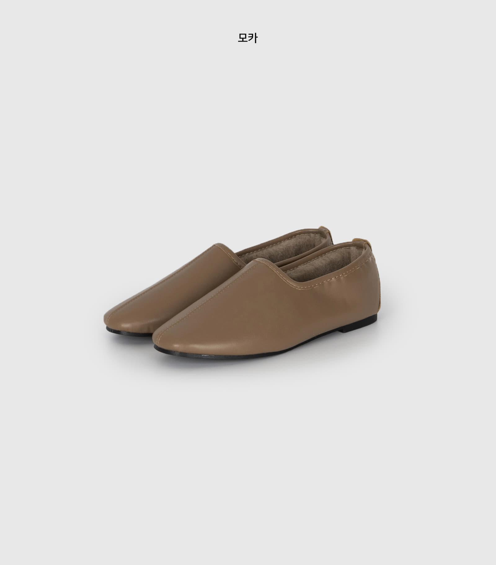 Soft fur flat shoes