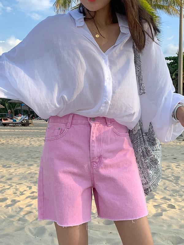 Dying color jeans 4 pcs shorts