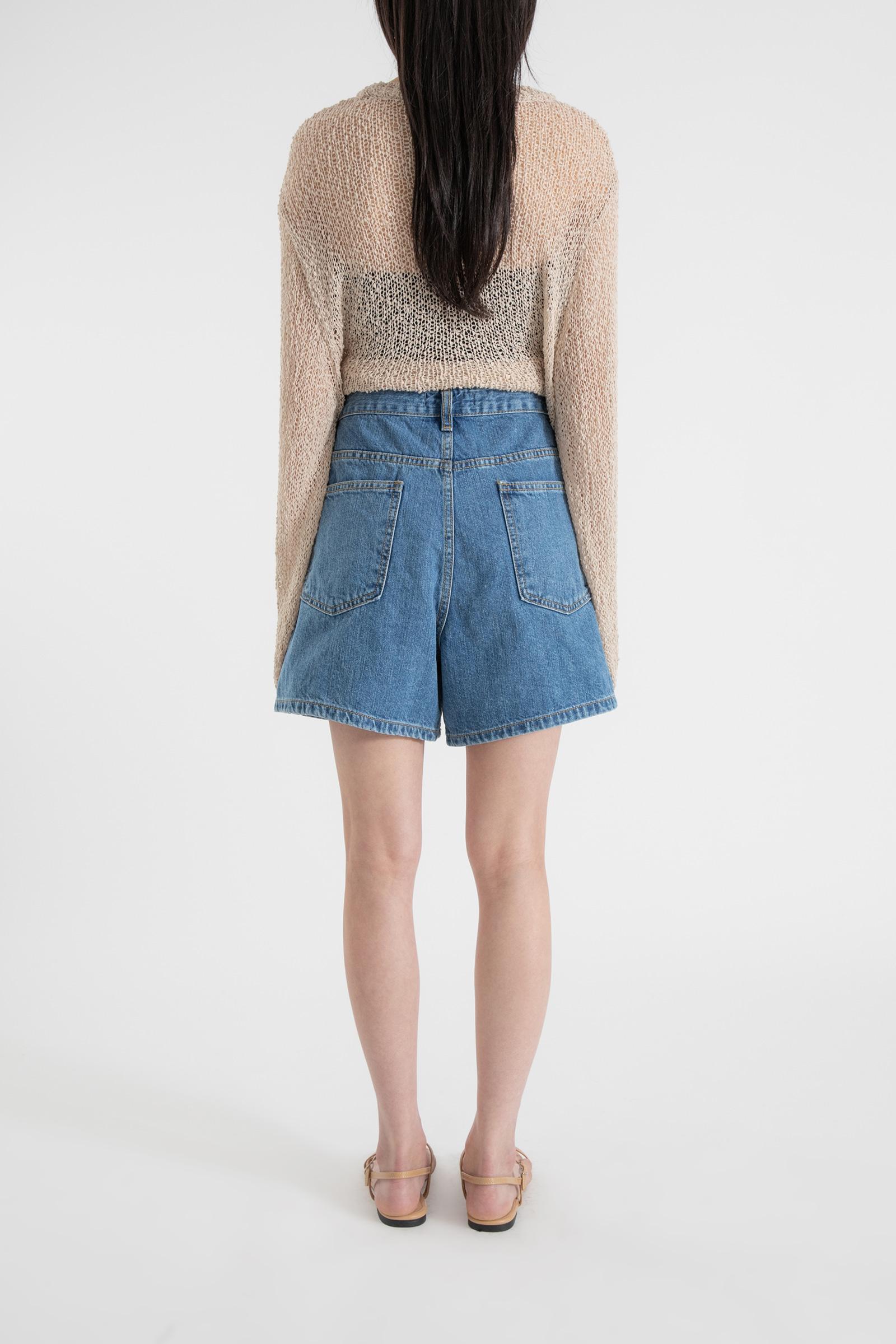 Select Free Button Half Jean