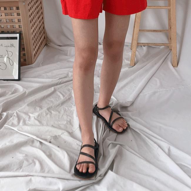 韓國空運 - 1057 real lambskin sandals 涼鞋