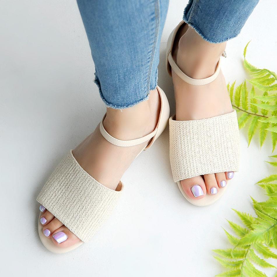 Yofit Rattan Strap Sandals 2 cm