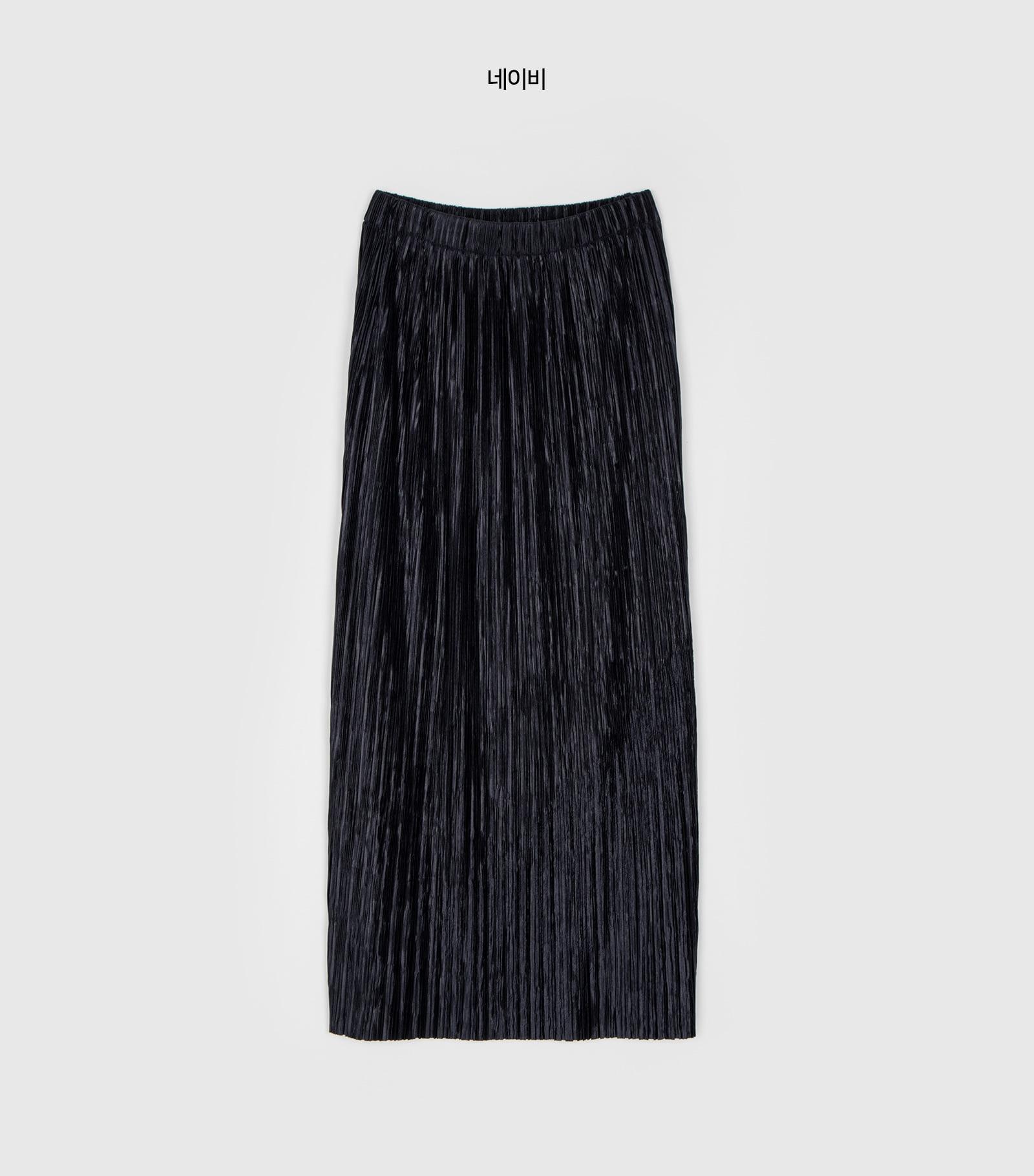 Fancy pleated midi skirt