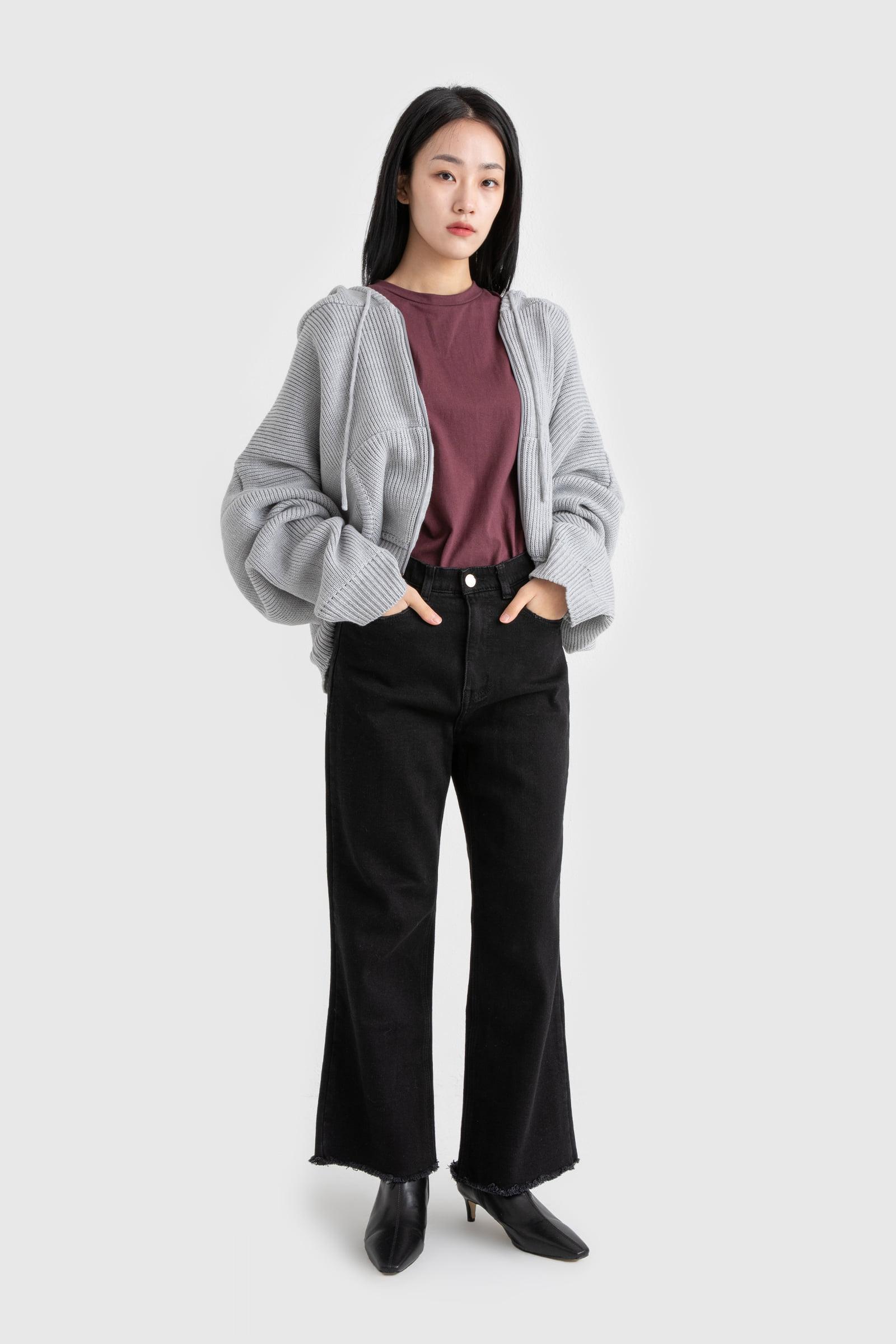 Sandy Black Brushed Jeans