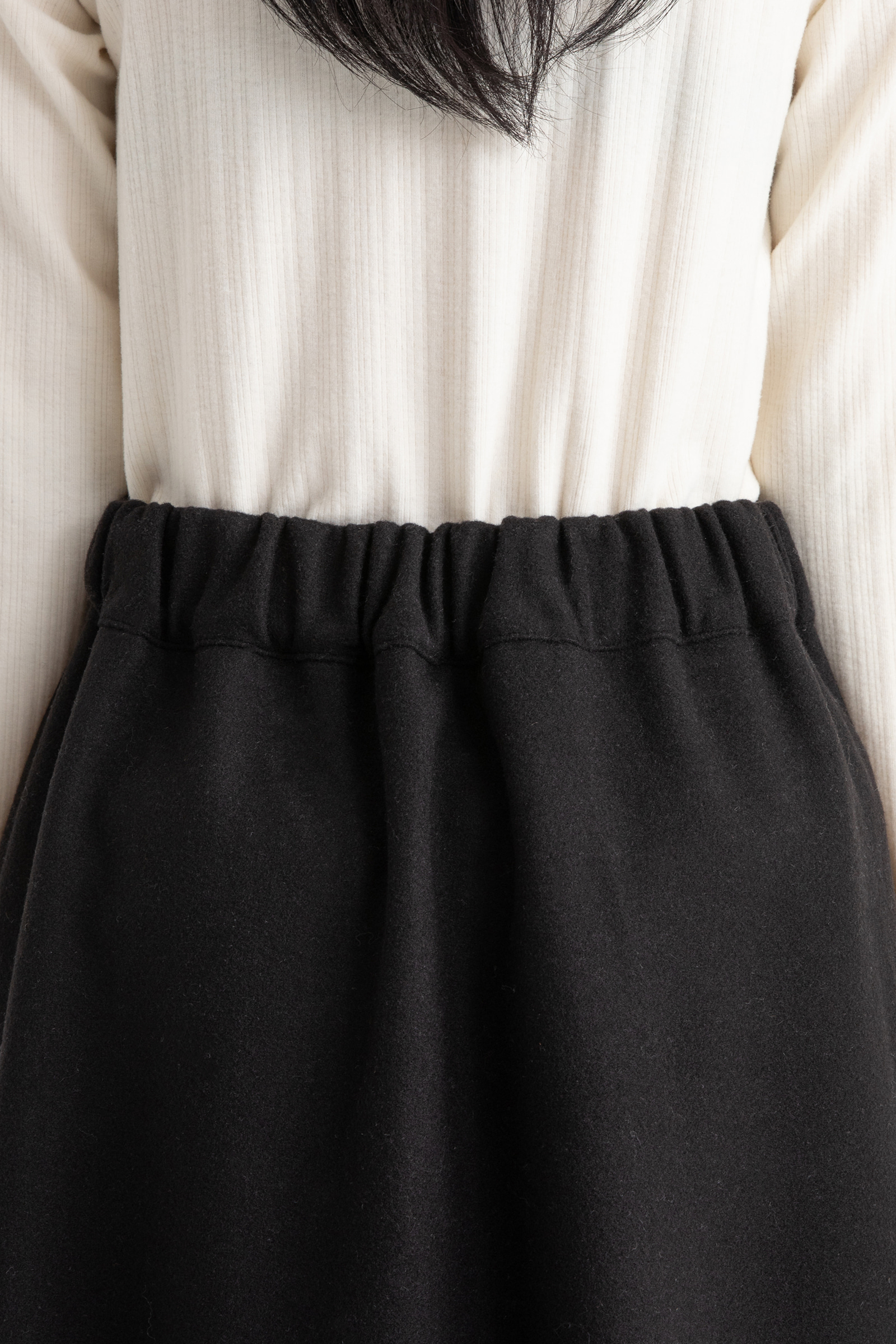 Front button wool flare maxi skirt