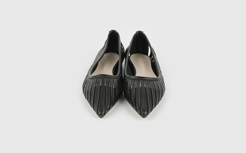 Angle net flat shoes