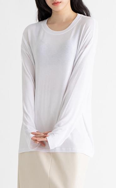 Bottle over round neck T-shirt