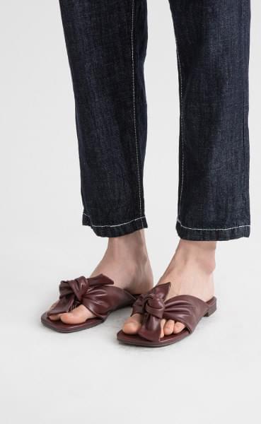 Gran ribbon flat sandals