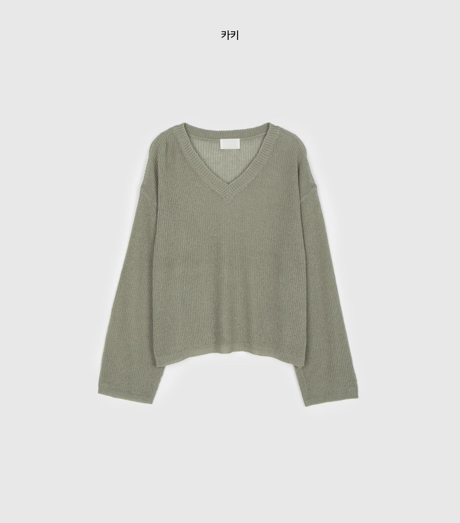 Verano see-through over V-neck knit