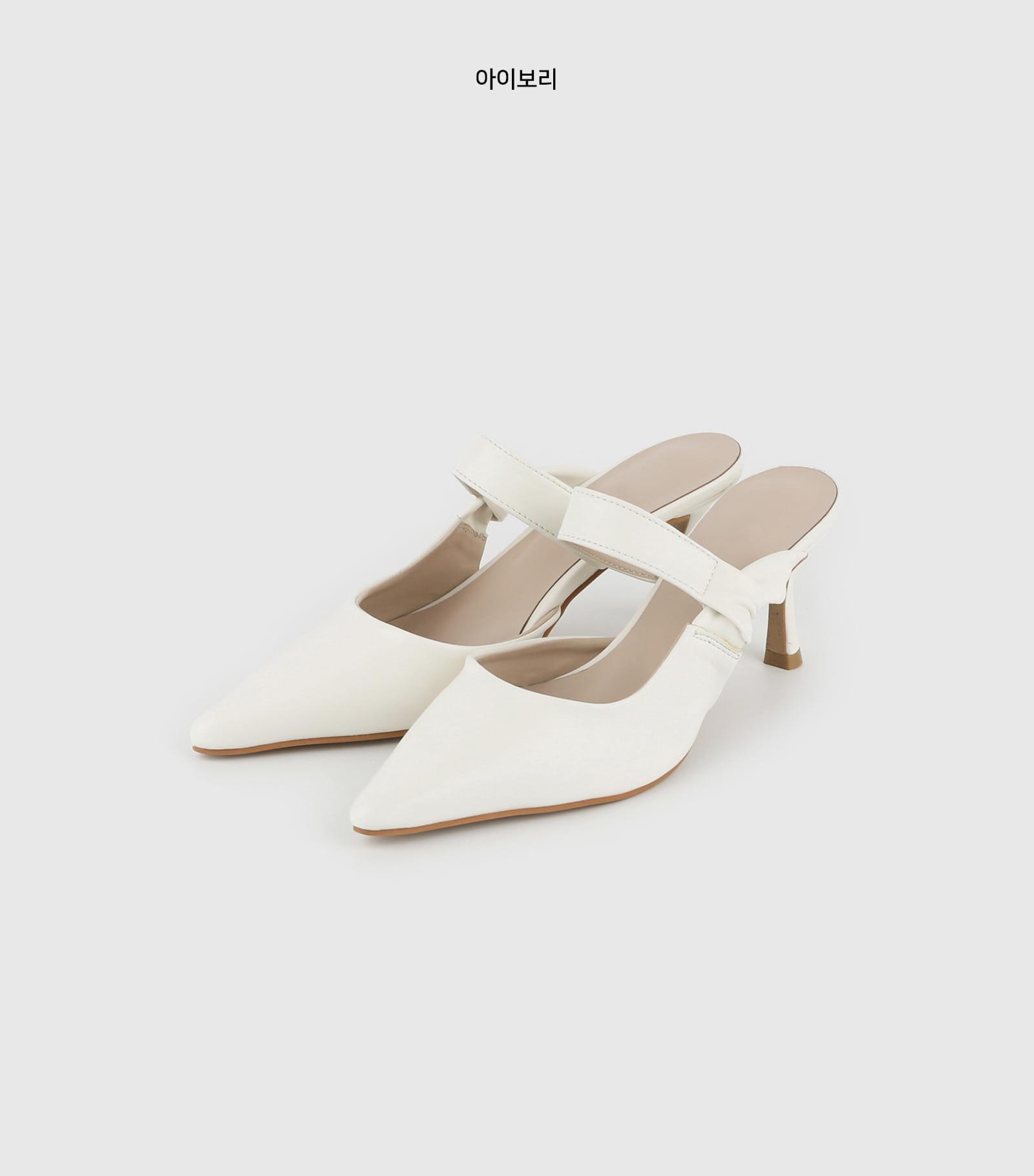 Center Stiletto High Heel Mule