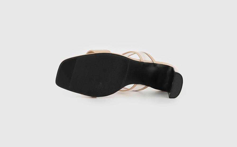 Shine mesh high heel sandals