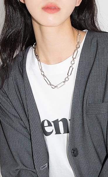 Machine bold chain necklace 項鍊