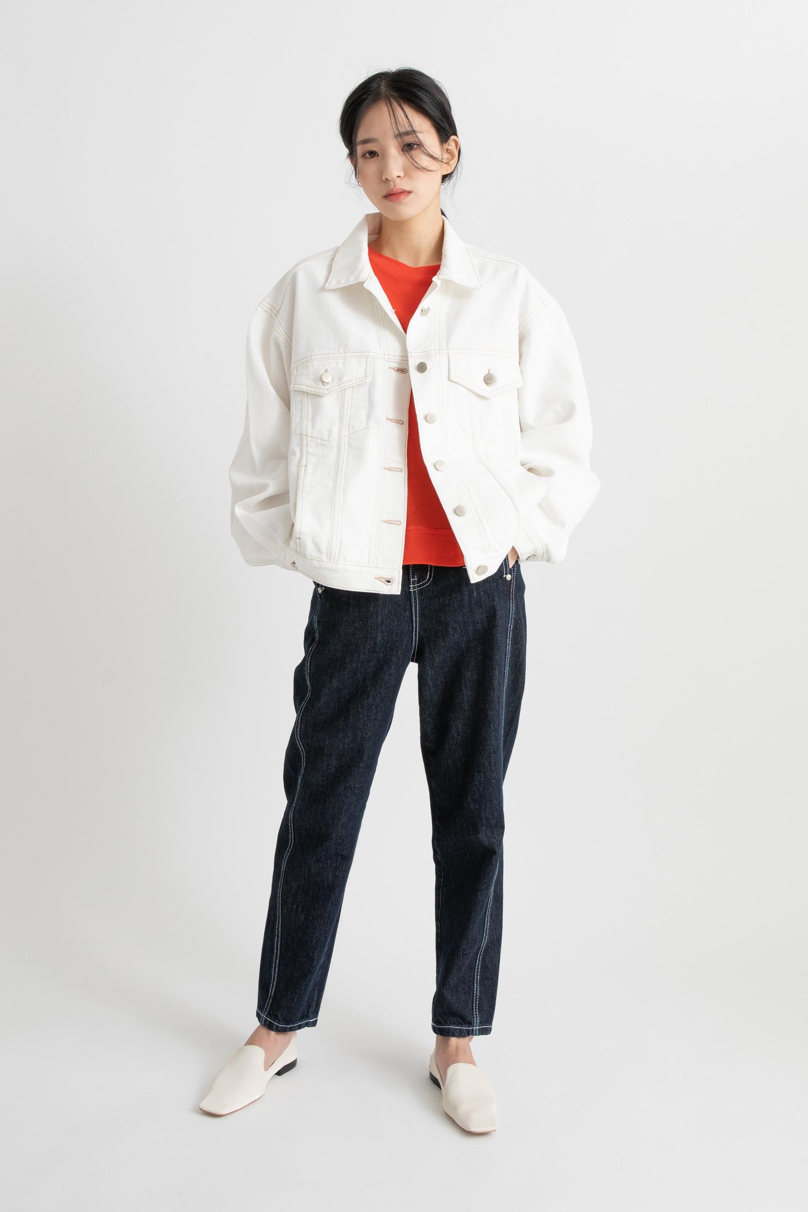 Wit denim jacket