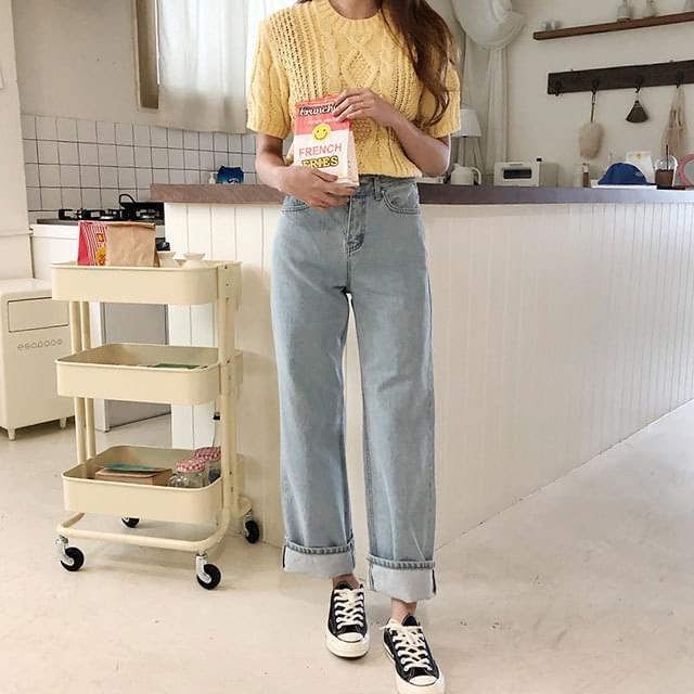 Luna wide denim jeans