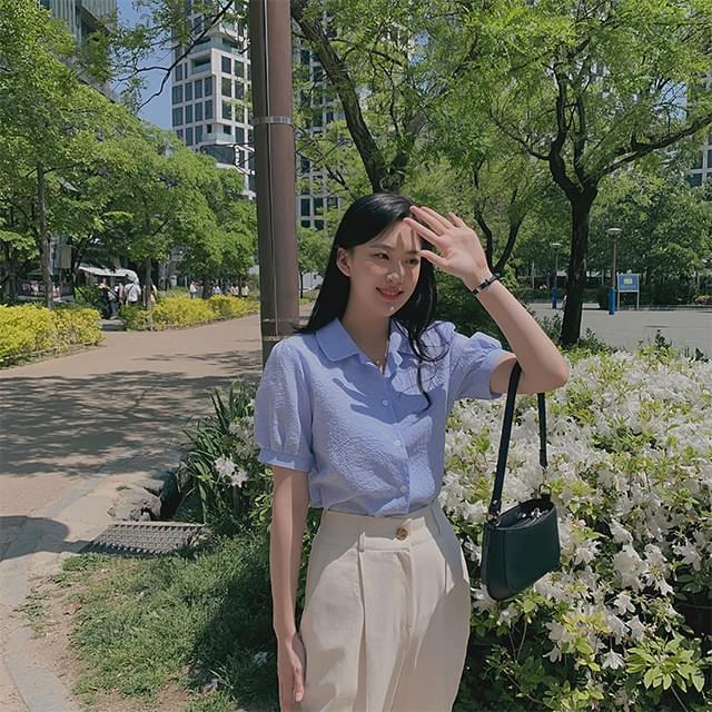 Pannier check blouse