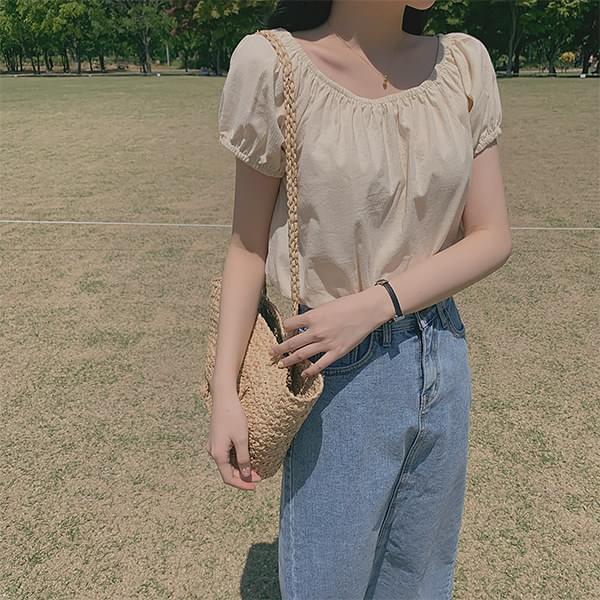 Cropped off-shoulder blouse