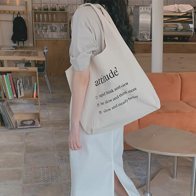 Bow Lettering Eco Bag