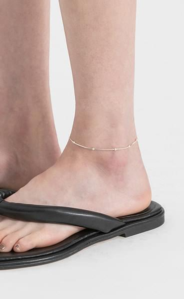Lining bangle silver anklet