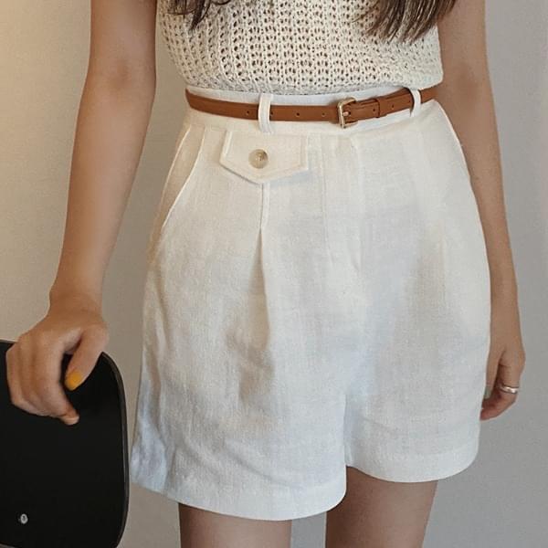 Jica Linen Short Pants