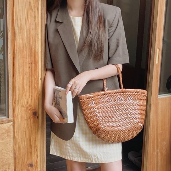 Custom linen short sleeve jacket