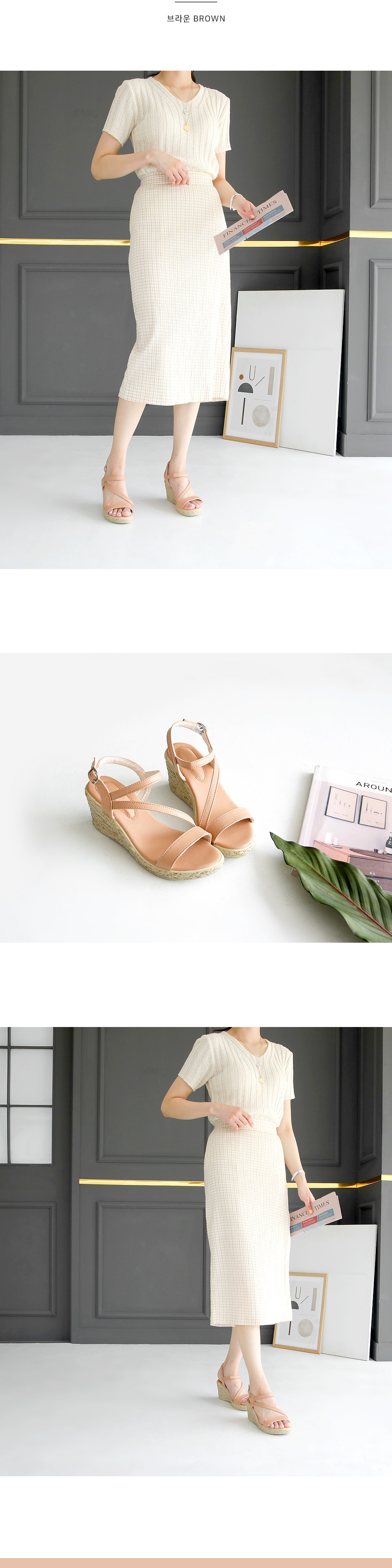 Juliea wedge slingback sandals 7 cm