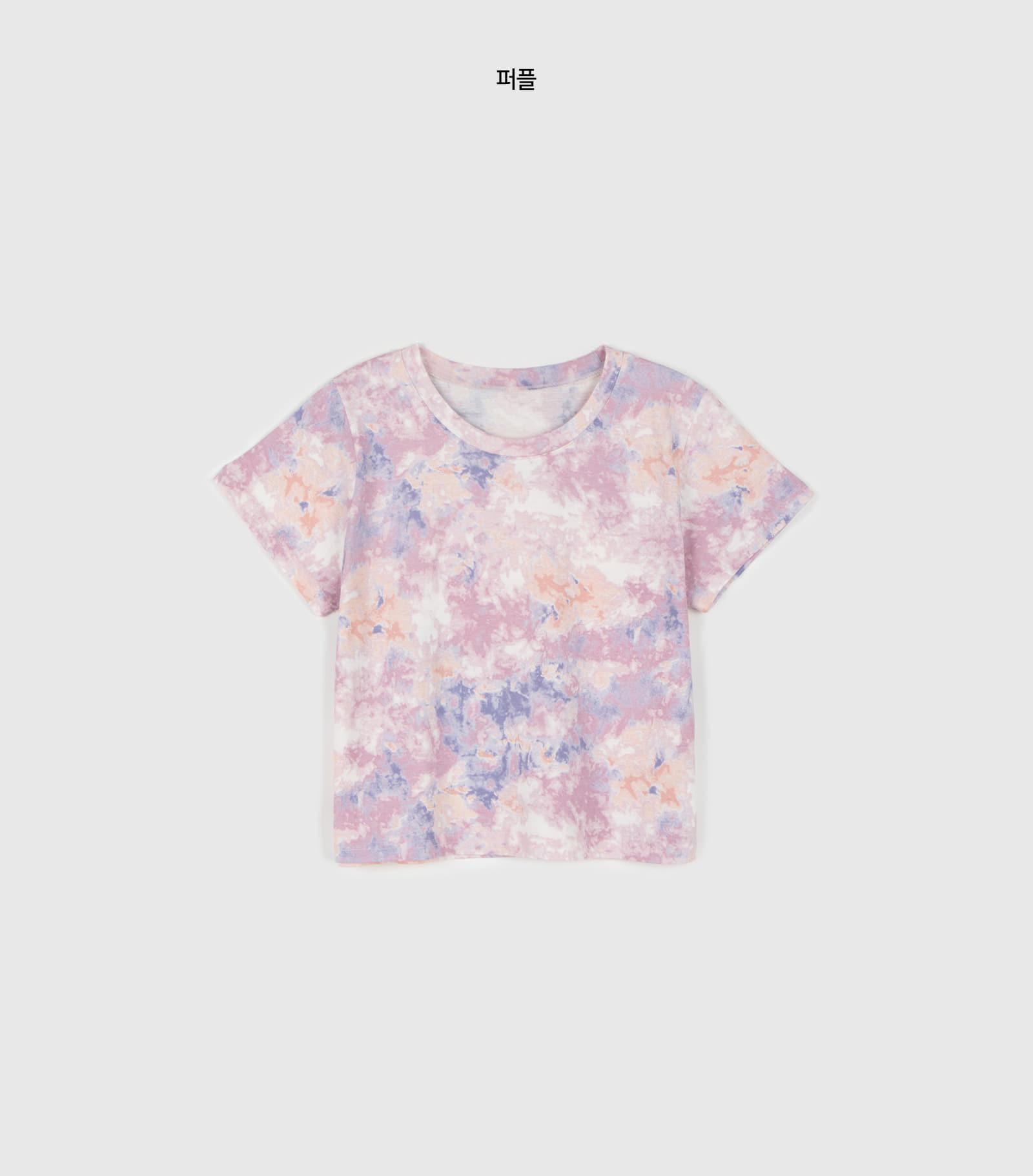 Pastel tie-dye round neck T-shirt