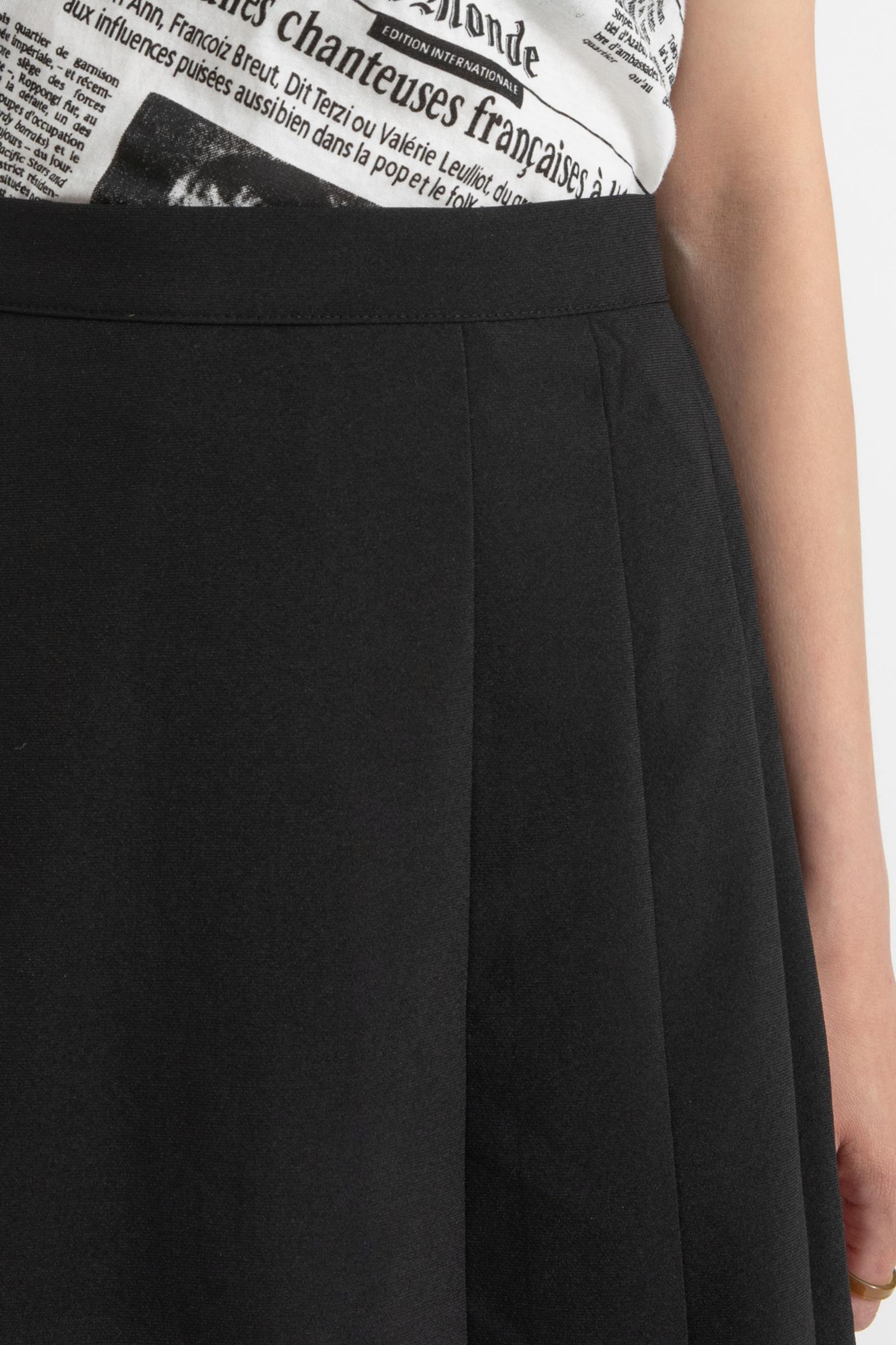 Lucy Unbal pleated midi skirt