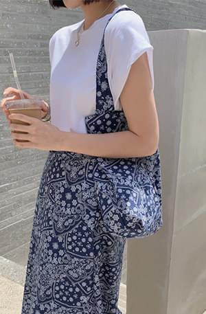 Paisley Shoulder Tote Bag