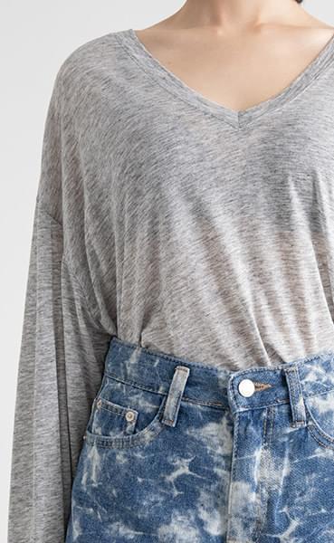 Cozy Over Tencel V-neck T-shirt