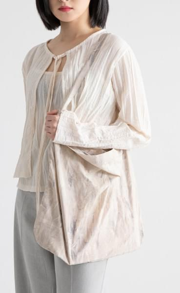 Dream marbling cotton shoulder bag