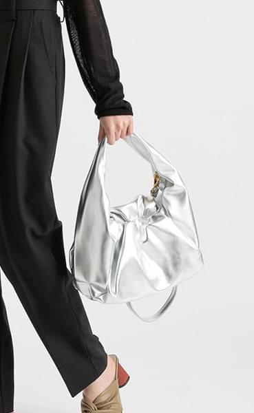 Tina Wrinkle Multi Cross Tote Bag