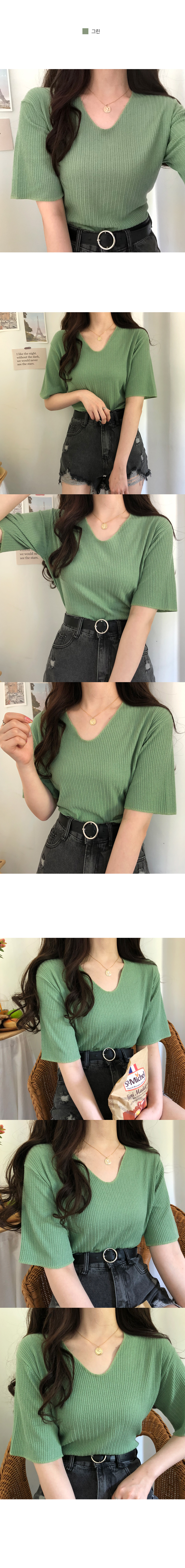 Jeanne Ribbed Rock Knit T-Shirt