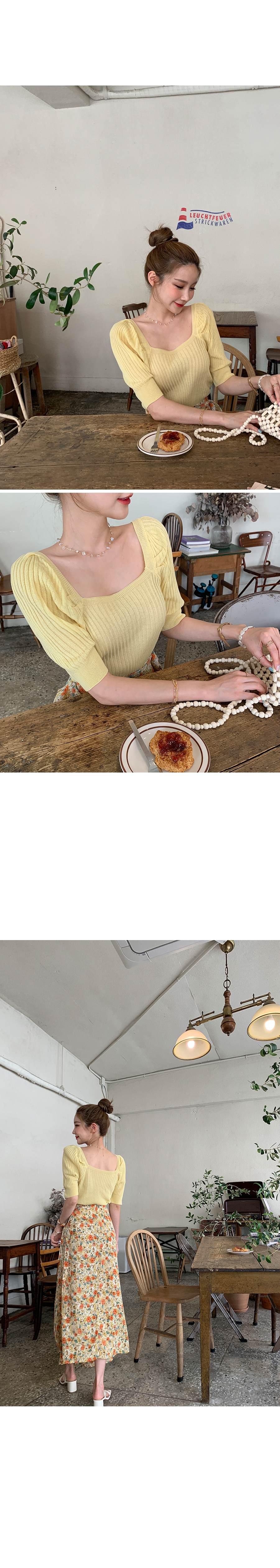 Feminine square knit