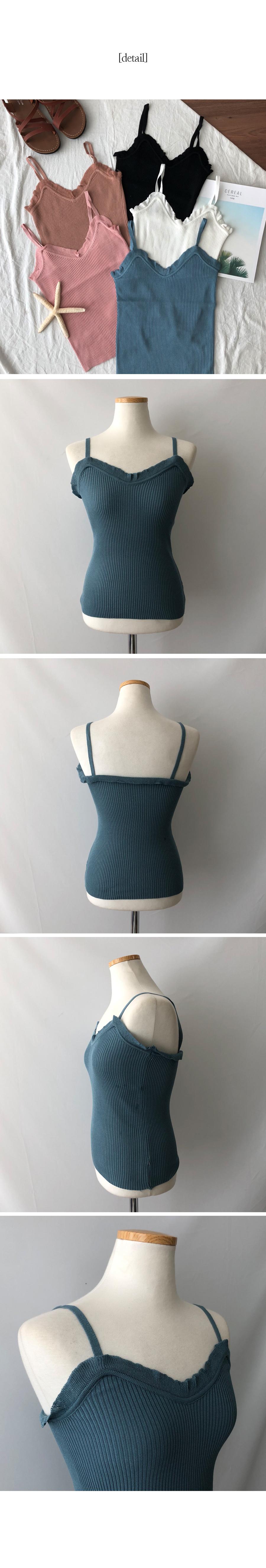 Velor ruffled knit straps