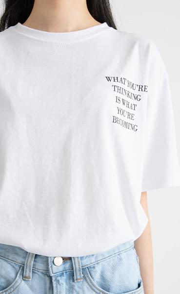 Becoming Lettering Round Neck T-shirt