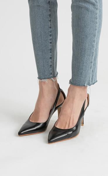 Back point stiletto high heel pumps
