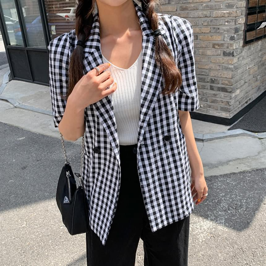 Leri check jacket