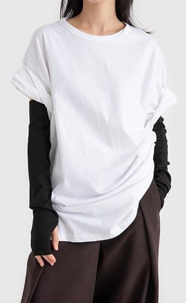Hard short sleeve round neck T-shirt