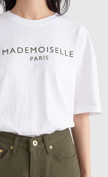 Made-print short-sleeved round-neck T-shirt