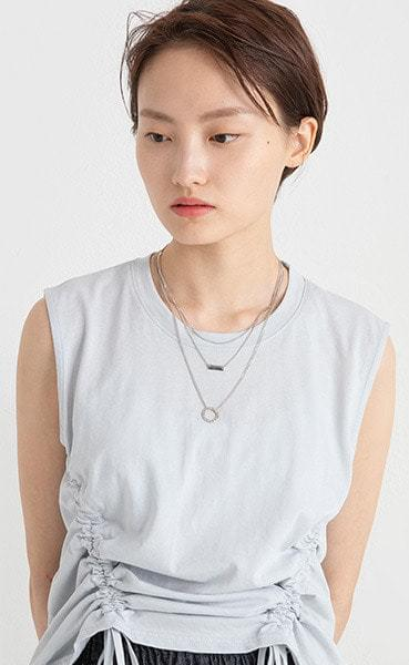 Lara shape set necklace