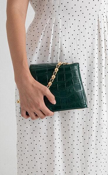 Vivid Animal Pattern Chain Two-way Tote Bag