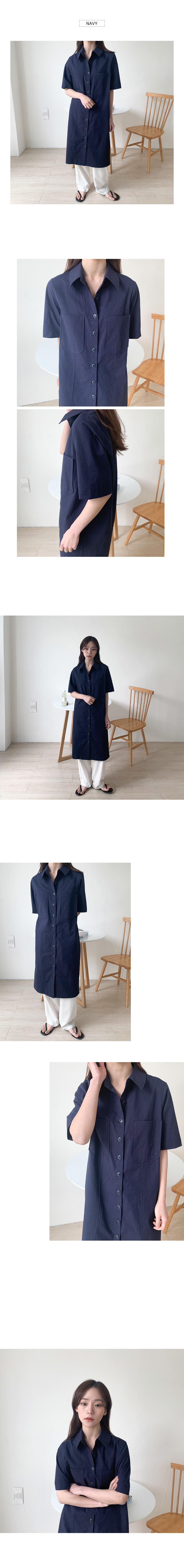 Switch collar dress