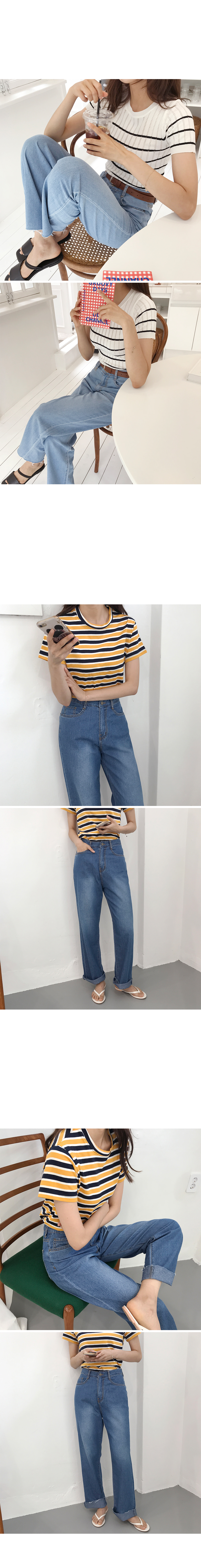 Street long denim jeans