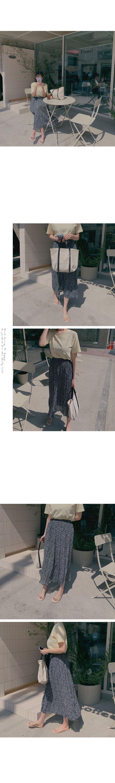 Flower pleated skirt