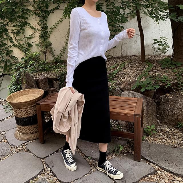 Madeleine knitted skirt