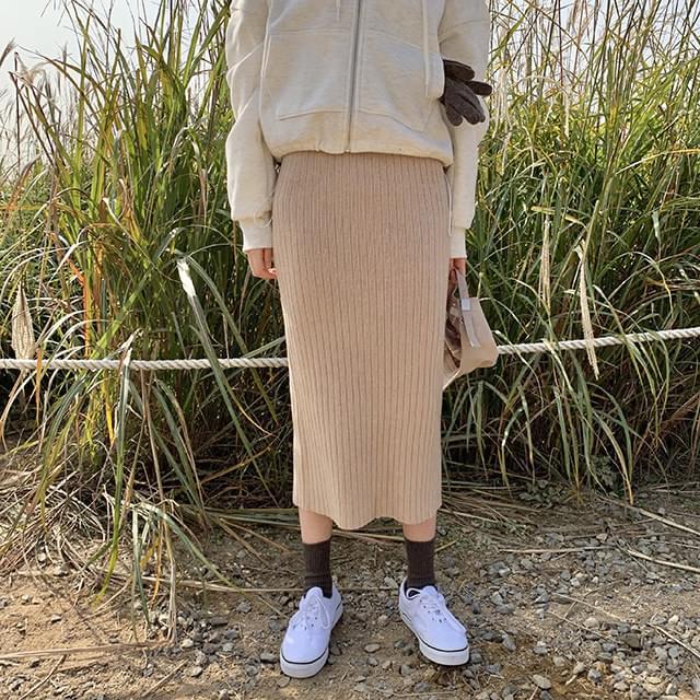 Turin ribbed skirt