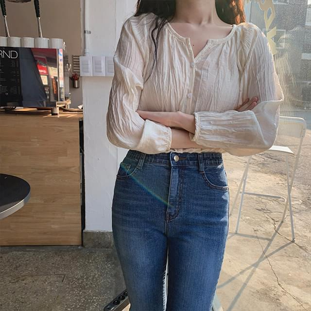 Beldor pleated blouse