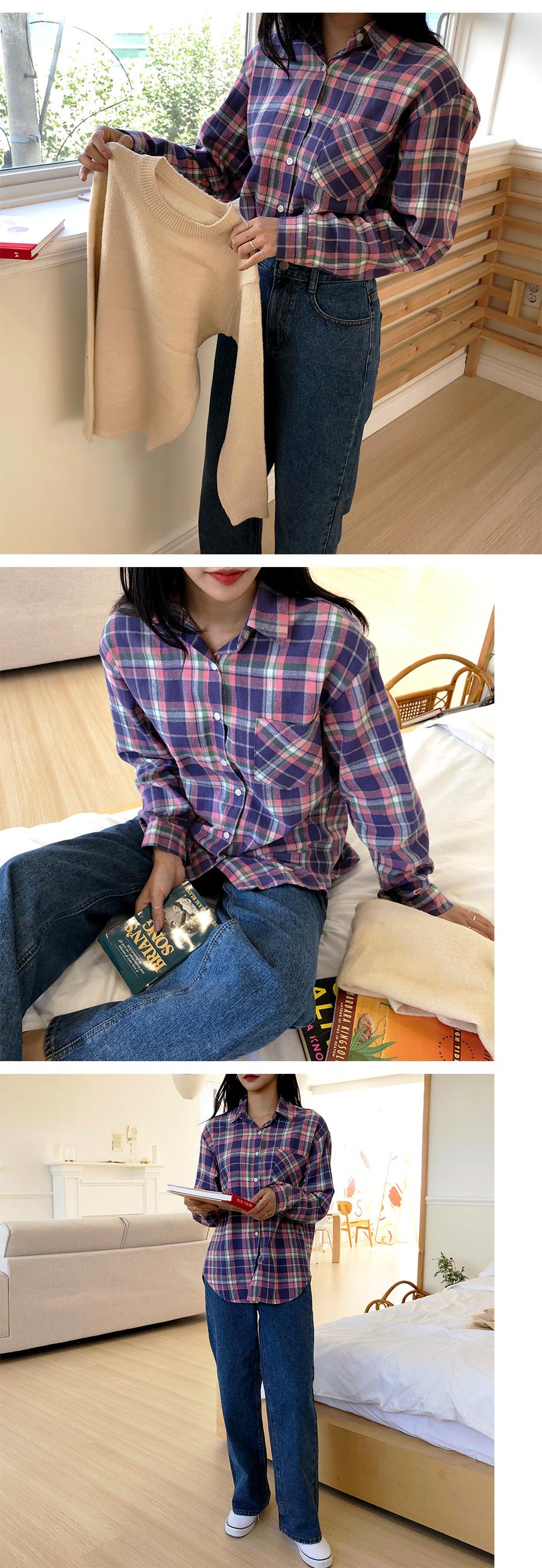 Candy check shirt